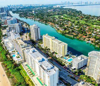 Miami Beach aerial view, Florida, USA.